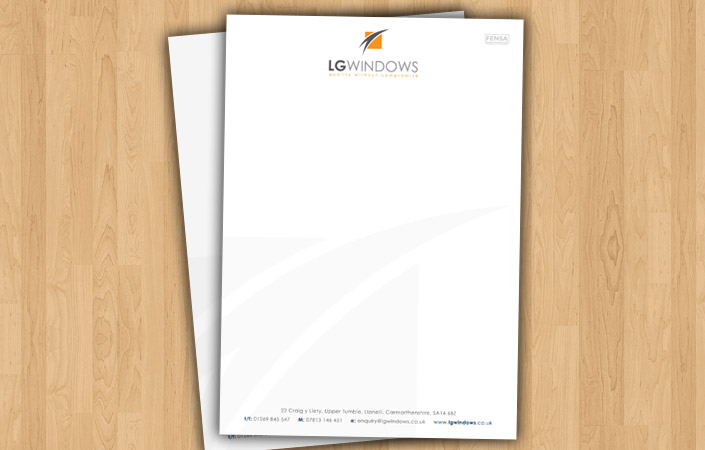 LG Windows letterhead design