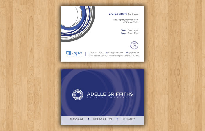Adelle Griffiths business cards design