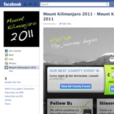Mount Kilimanjaro 2011 custom design facebook page