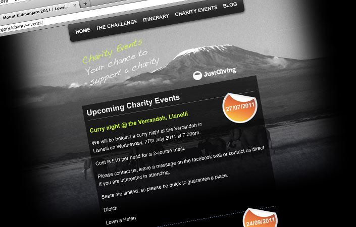 Mount Kilimanjaro 2011 custom Facebook fan page