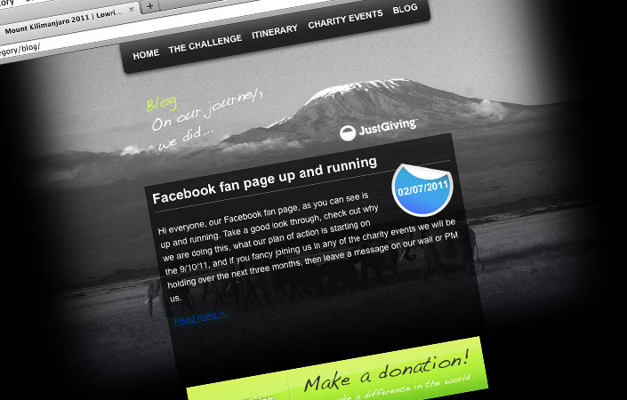 Mount Kilimanjaro 2011 custom Facebook fan page