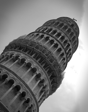 The Leaning Tower of Pisa in Pisa, Italy