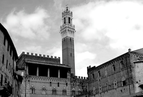 The Palazzo Pubblico in Siena, Italy