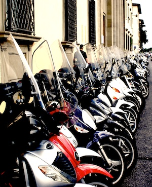 Transport of choice, Florence, Italy