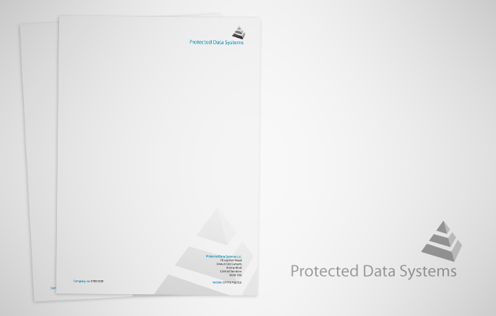 protected data systems stationery and letterhead design