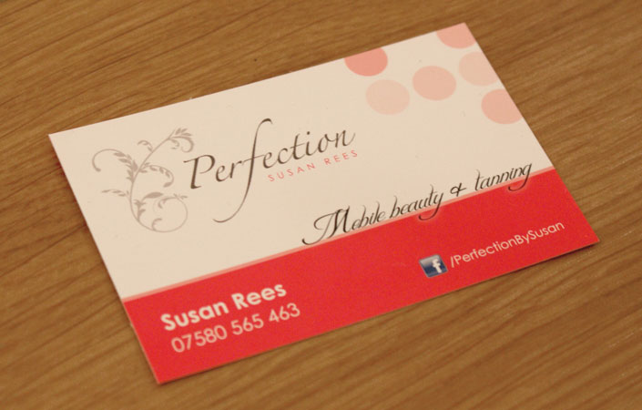 perfection by susan business card