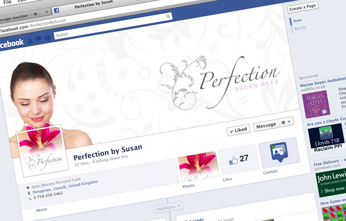 Perfection by susan facebook fan page design