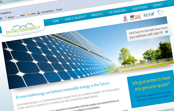 Envirotekenergy Solar Panels Ammanford Website Design