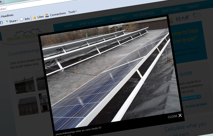 envirotekenergy solar energy website design ammanford