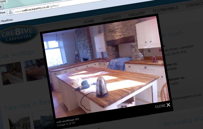 Cre8ive Carpentry web design