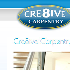 Cre8ive Carpentry website design