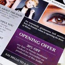 Glamorous U Hair & Beauty Salon flyer design and print
