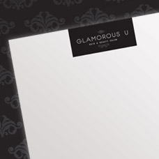 Glamorous U Hair & Beauty Salon letterhead and appointment card