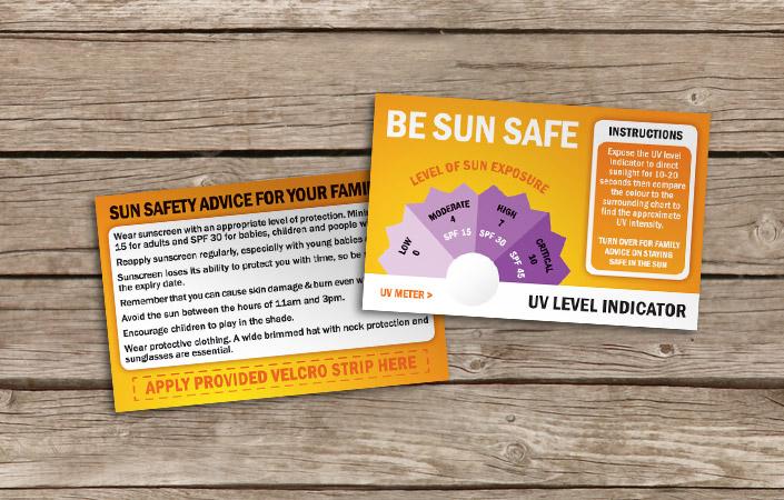 Sun UV level indicator design print and video