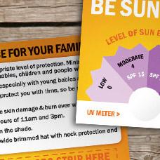 Sun UV level indicator prototype design, print and video