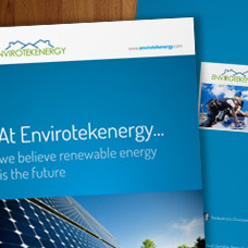 Envirotekenergy solar corporate brochure design & print