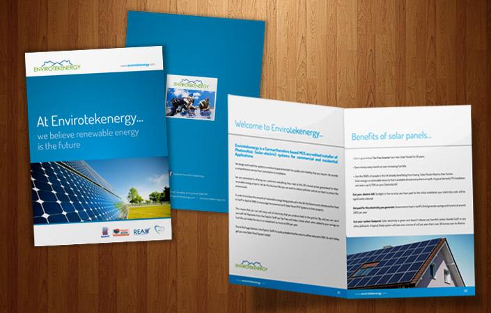 Envirotekenergy Solar A4 Corporate Brochure Design And Print