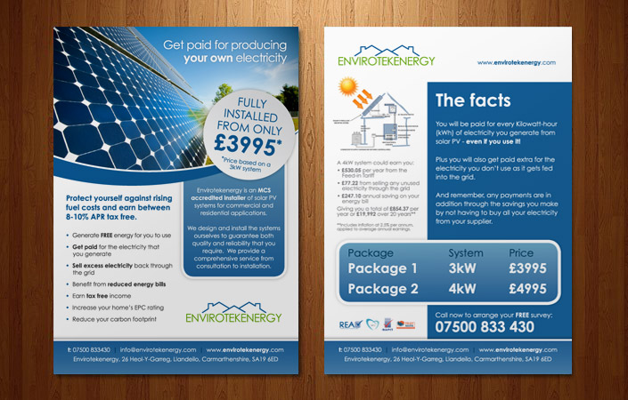 solar energy in wales flyer