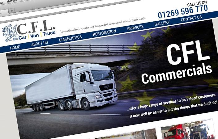 CFL Commercials web design