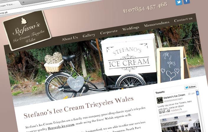 Stefano ice cream web design